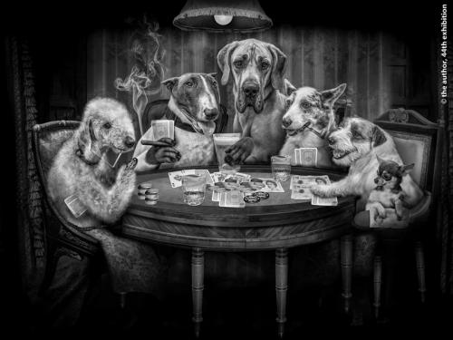 PSA Ribbon-Dogs Behaving Badly-Phillip Barber-England